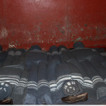 Due to the over-crowding in the cells. Prisoners slept like sardines