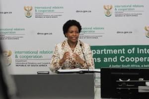 MINISTRY WISDOM : Minister Maite Nkoane Mashabane. Photo: Thabile Manala