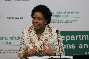 MINISTRY WISDOM: Minister tells IR students to engage with international politics critically. Photo: Thabile Manala