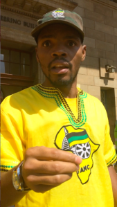 NOT A SISULU: The head of the Wits Junction Residence house committee, has been calling himself Mcebo Olyate Sisulu and giving interviews to Wits campus media about his Sisulu family background. He now says his name is Mcebo Freedom Dlamini and he is not related to the Sisulu's. Photo: Luca Kotton