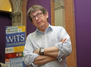 Alan Rusbridger, editor-in-chief of The Guardian, spoke at Wits University earlier today. Photo: Dinesh Balliah.